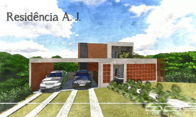 Projeto de Arquitetura para Reforma e Ampliação: Residência A. J.